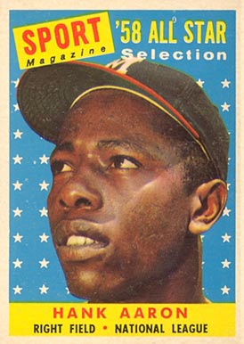 1958 Topps Hank Aaron #488 Baseball Card