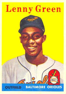 1958 topps lenny green 471 baseball card value price guide