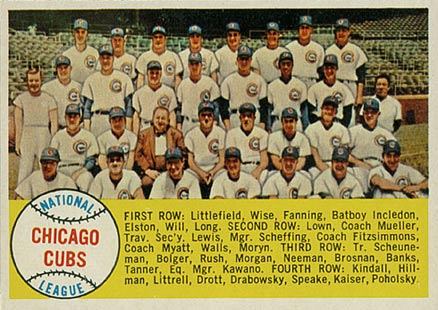 1958 Topps Chicago Cubs Team #327 Baseball Card