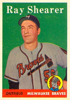 1958 Topps Ray Shearer #283 Baseball Card