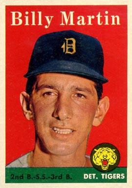 Billy Martin Baseball Cards