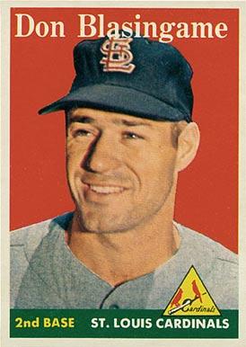 1958 topps don blasingame 199 baseball card value price guide