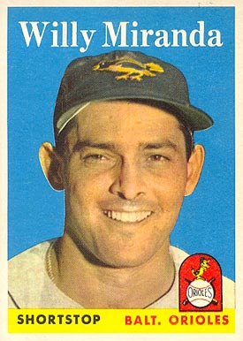 1958 Topps Willy Miranda #179 Baseball Card