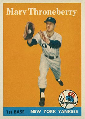 1958 Topps Marv Throneberry #175 Baseball Card
