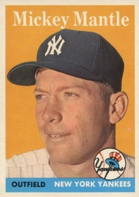 1958 Topps Mickey Mantle #150 Baseball Card