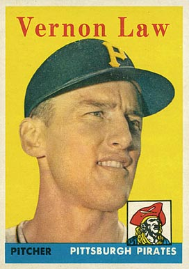 1958 Topps Vern Law #132 Baseball Card