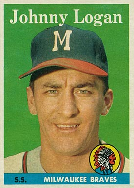 1958 Topps Johnny Logan #110 Baseball Card