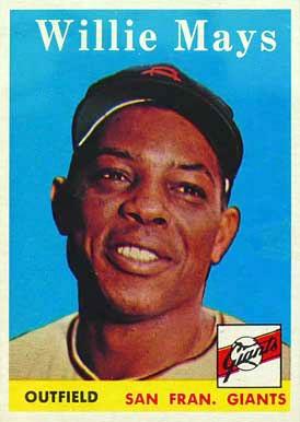 Willie Mays Hall Of Fame Baseball Cards