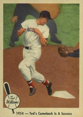 1959 Fleer Ted Williams 1954- Ted's Comeback Is A Success #53 Baseball Card
