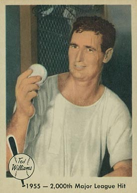 1959 Fleer Ted Williams 1955- 2,000th Major League Hit #56 Baseball Card