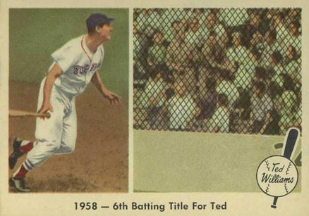 1959 Fleer Ted Williams 1958- 6th Batting Title For Ted #62 Baseball Card