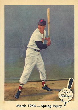 1959 Fleer Ted Williams March 1954- Spring Injury #50 Baseball Card