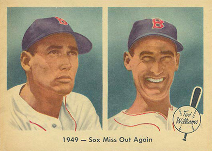 1959 Fleer Ted Williams 1949- Sox Miss Out Again #37 Baseball Card