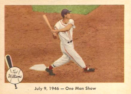 1959 Fleer Ted Williams July 9, 1946- One Man Show #27 Baseball Card