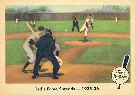 1959 Fleer Ted Williams Ted's Fame Spreads 1935-36 #5 Baseball Card