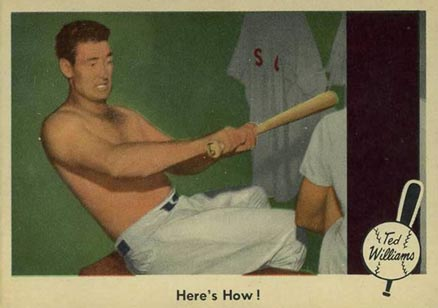 1959 Fleer Ted Williams Here's How! #74 Baseball Card