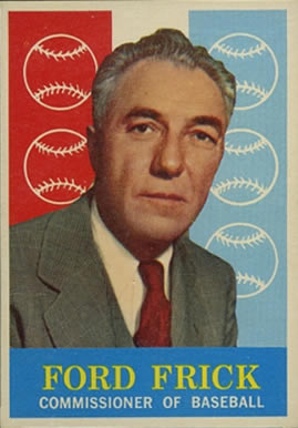 1959 Topps Ford Frick #1 Baseball Card