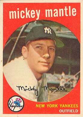 1959 Topps Mickey Mantle #10 Baseball Card