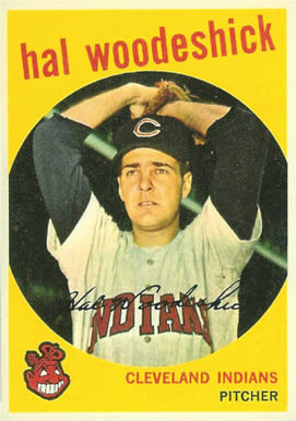 1959 Topps Hal Woodeshick #106 Baseball Card