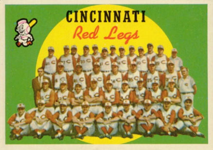 1959 Topps Cincinnati Redlegs Team #111 Baseball Card