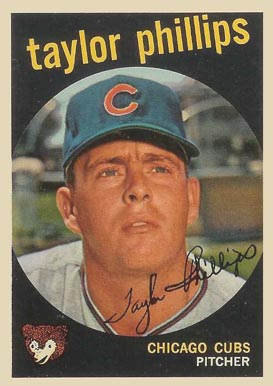 1959 Topps Taylor Phillips #113 Baseball Card