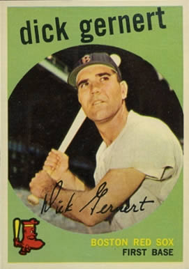 1959 Topps Dick Gernert #13 Baseball Card