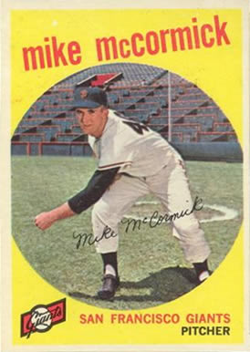 1959 Topps Mike McCormick #148 Baseball Card
