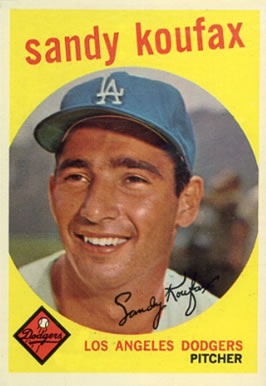 1959 Topps Sandy Koufax #163 Baseball Card