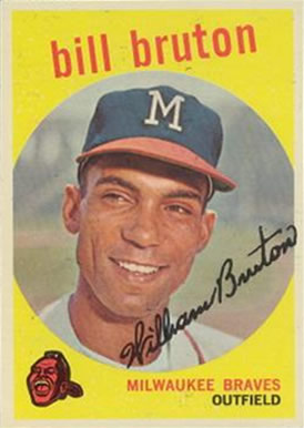 1959 Topps Bill Bruton #165 Baseball Card