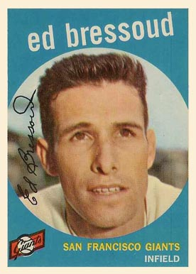 1959 Topps Ed Bressoud #19 Baseball Card