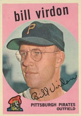 1959 Topps Bill Virdon #190 Baseball Card