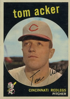 1959 Topps Tom Acker #201 Baseball Card