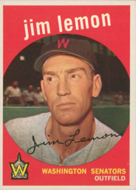 1959 Topps Jim Lemon #215 Baseball Card
