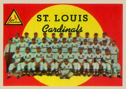1959 Topps St. Louis Cardinals Team #223 Baseball Card