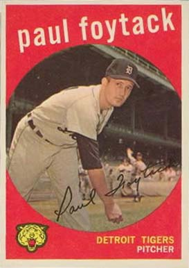 1959 Topps Paul Foytack #233 Baseball Card