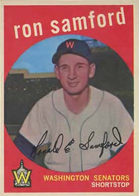 1959 Topps Ron Samford #242 Baseball Card