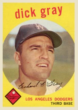1959 Topps Dick Gray #244 Baseball Card