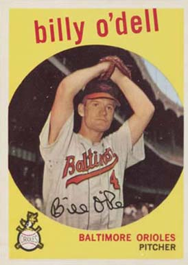 1959 Topps Billy O'Dell #250 Baseball Card