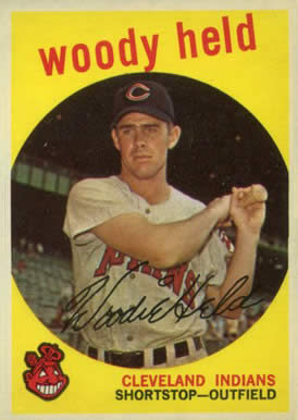 1959 Topps Woody Held #266 Baseball Card