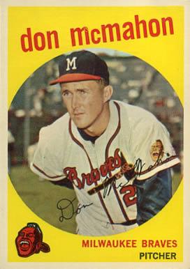 1959 Topps Don Mcmahon 3 Baseball Vcp Price Guide