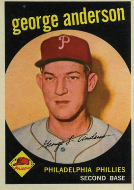 1959 Topps Sparky Anderson #338 Baseball Card
