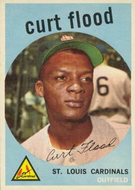 1959 Topps Curt Flood #353 Baseball Card