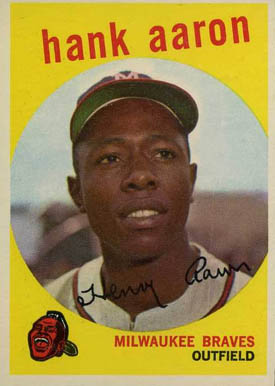 1959 Topps Hank Aaron #380 Baseball Card