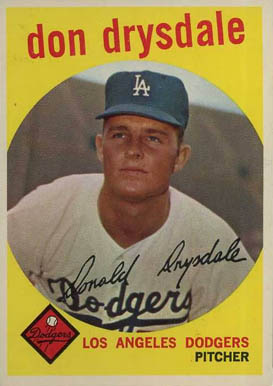 1959 Topps Don Drysdale #387 Baseball Card