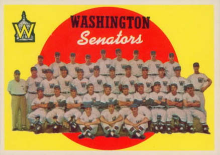 1959 Topps Washington Senators Team #397 Baseball Card