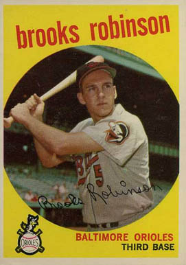 1959 Topps Brooks Robinson #439 Baseball Card