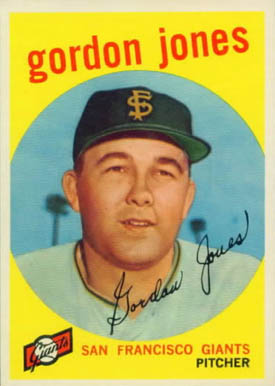 1959 Topps Gordon Jones #458 Baseball Card