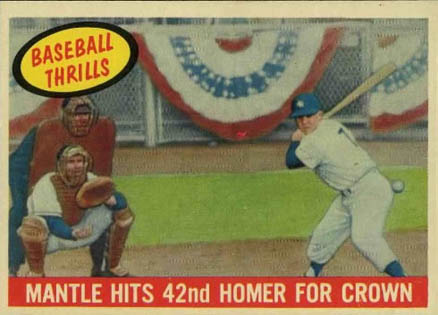 1959 Topps Mickey Mantle #461 Baseball Card