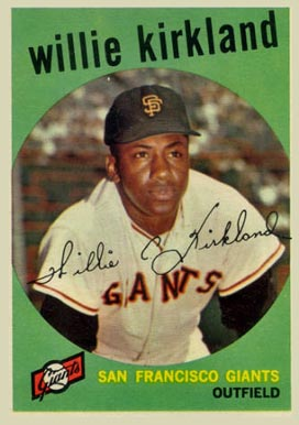 1959 Topps Willie Kirkland #484 Baseball Card