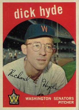 1959 Topps Dick Hyde #498 Baseball Card